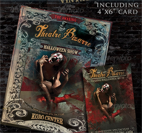 Halloween Hand Poster Template Bundle