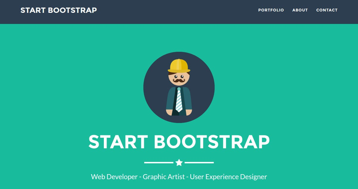 Bootstrap PHP Portfolio Website Theme