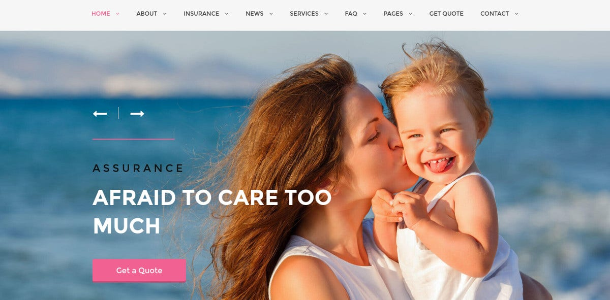 Insurance HTML website Template 415