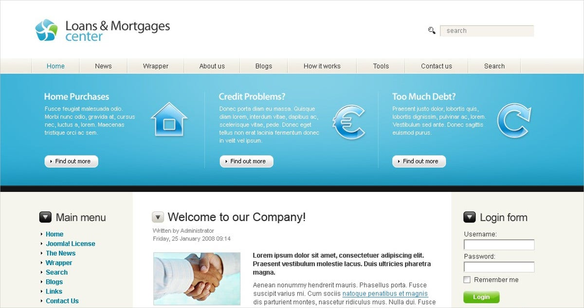 Mortgage Joomla Website Template $75