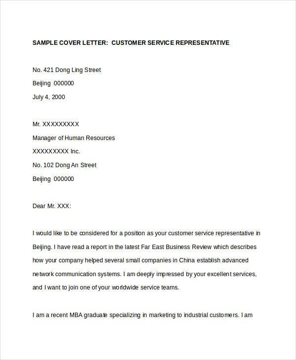 customer service resume cover letter - Examples Of Cover Letters For Resumes For Customer Service