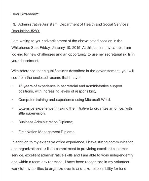 Resume Cover Letter - 15+ Free Word, Pdf Documents Download | Free