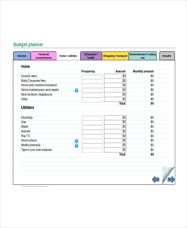 Budget Template Excel Free Download - mandegar.info