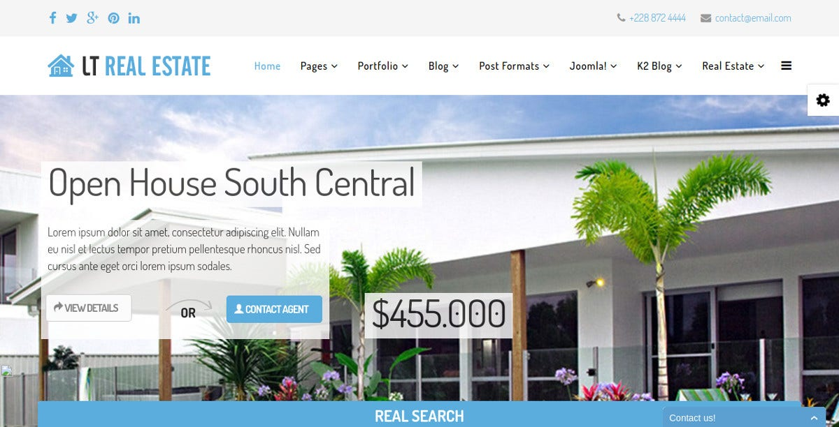 Real Estate Joomla Website Template $29