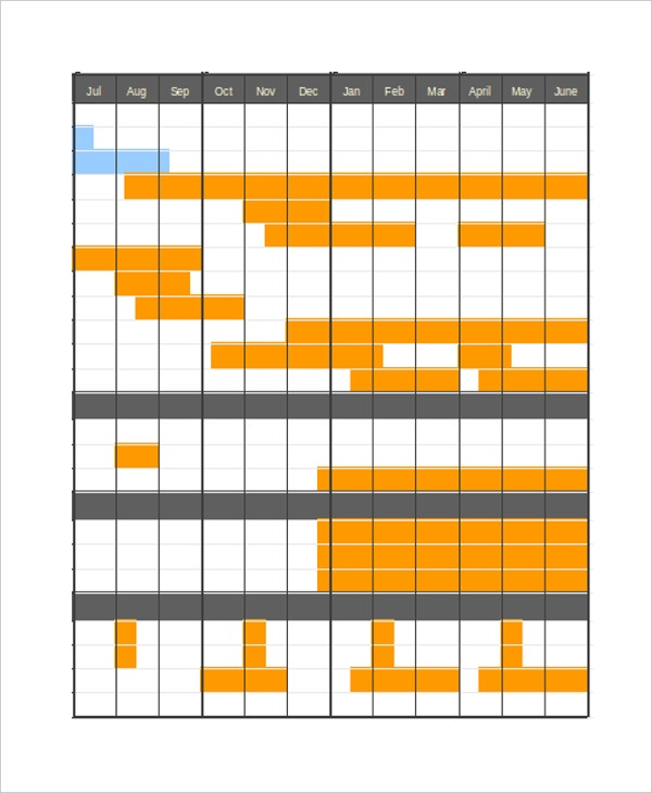 Gantt Chart   Free Word Excel Pdf Documents Download  Free