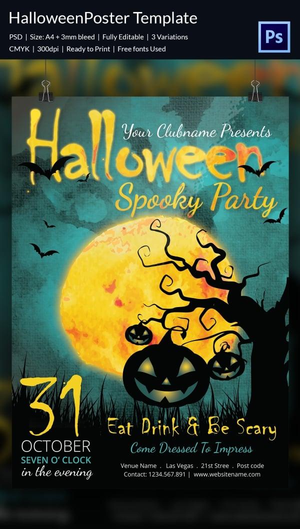 68 halloween templates editable psd ai eps format download