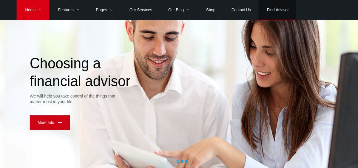 Accounting Advisory WordPress Website Theme $59