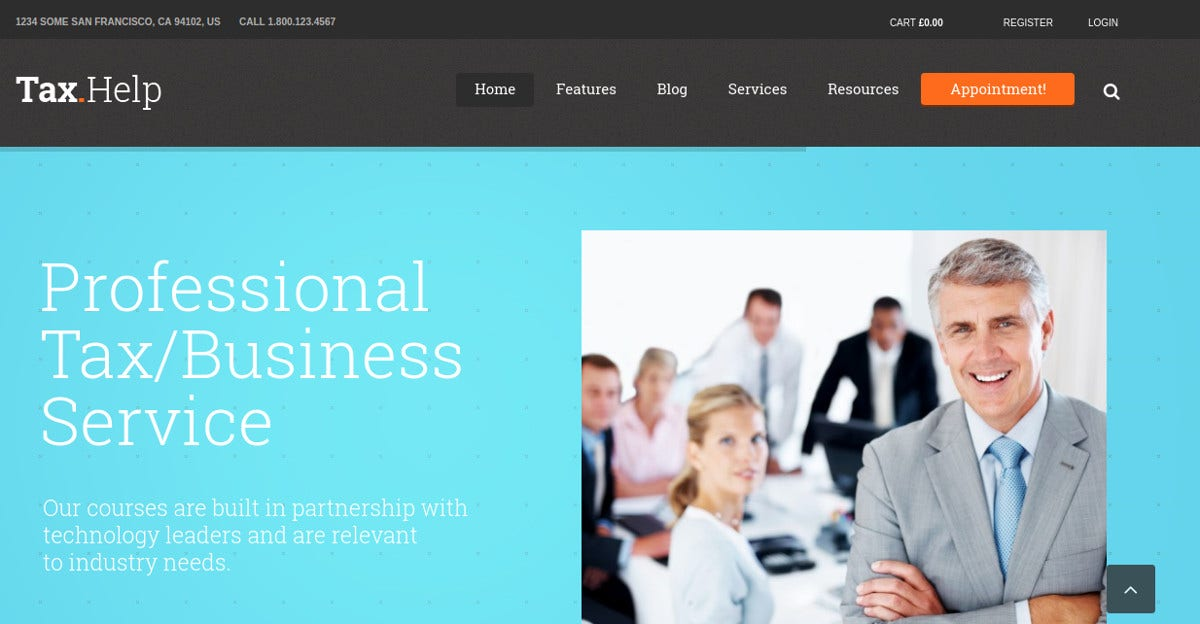 Accounting & Business Consulting WordPress Website Theme $59