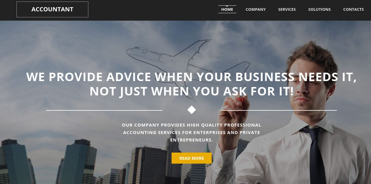 Accounting & Finance Website Moto CMS Template $199
