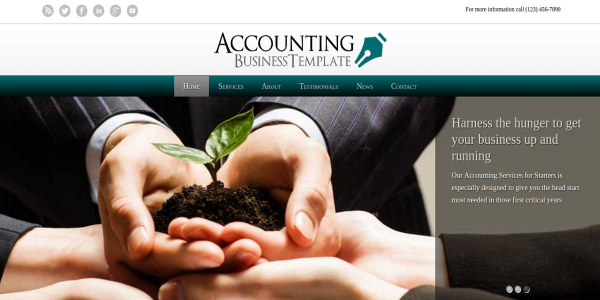 Accounting Industry WordPress Website Theme $75