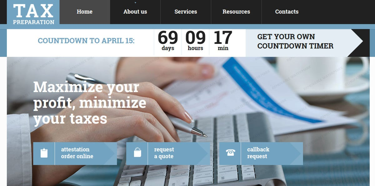 Accounting Services Website Template $75