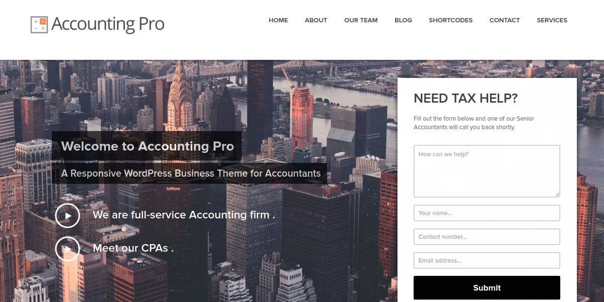 Accounting Firms WordPress Website Theme