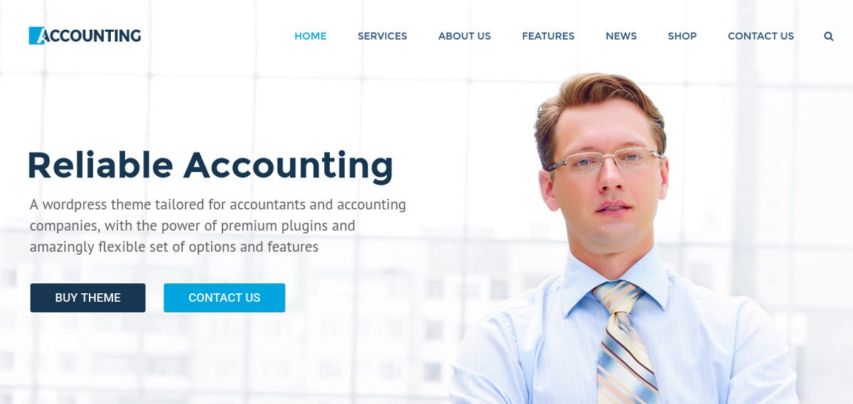 Multipurpose Business WP Website Theme for Accountants $59