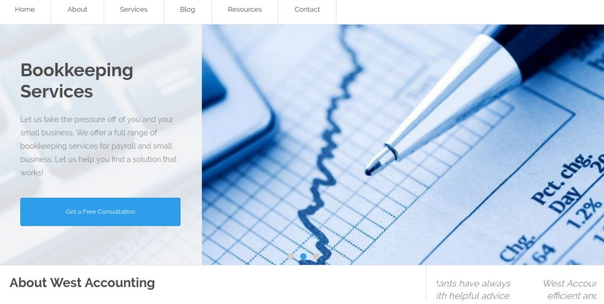 WordPress Website Accounting & Tax Services Theme