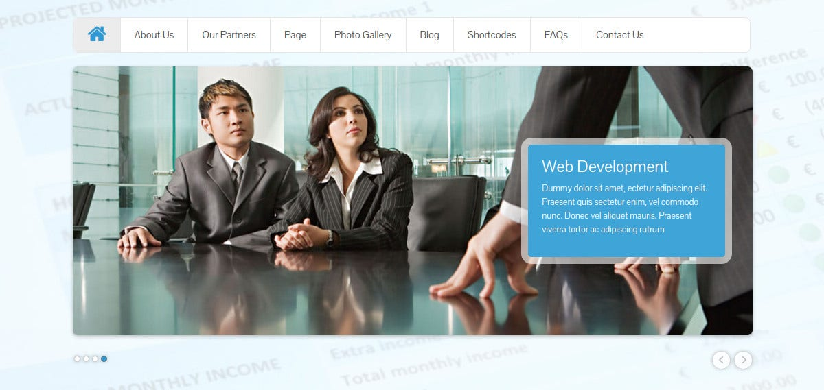 Accounting & Business investment WordPress Website Theme $48