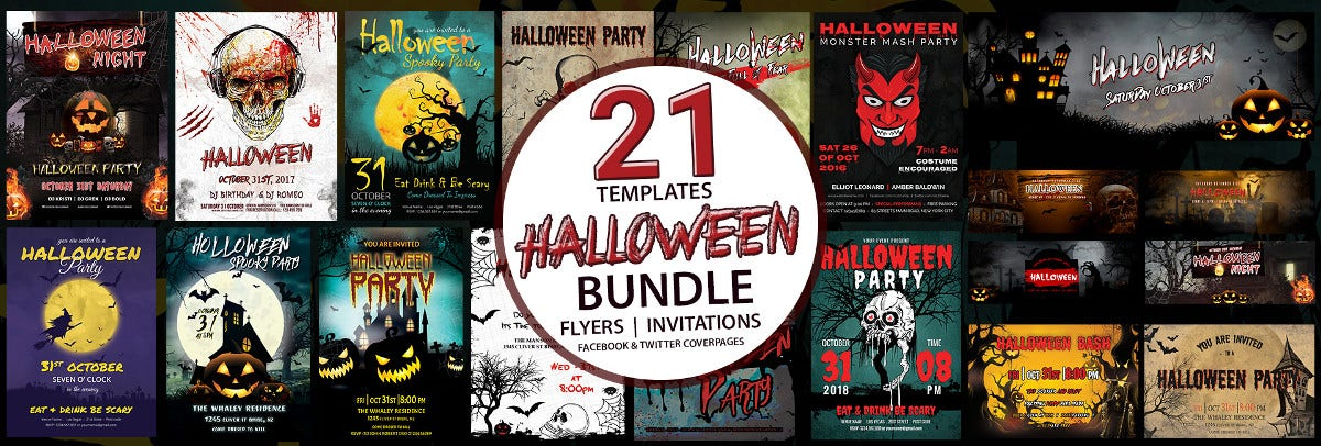 Halloween Templates Bundle