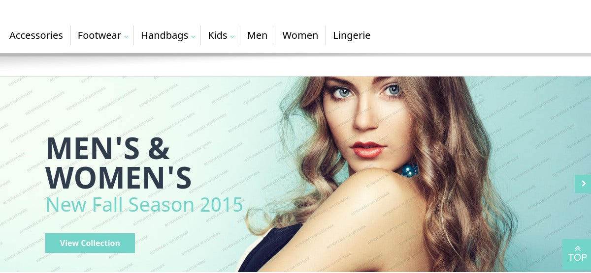 Free Men's & Women's Magento Template