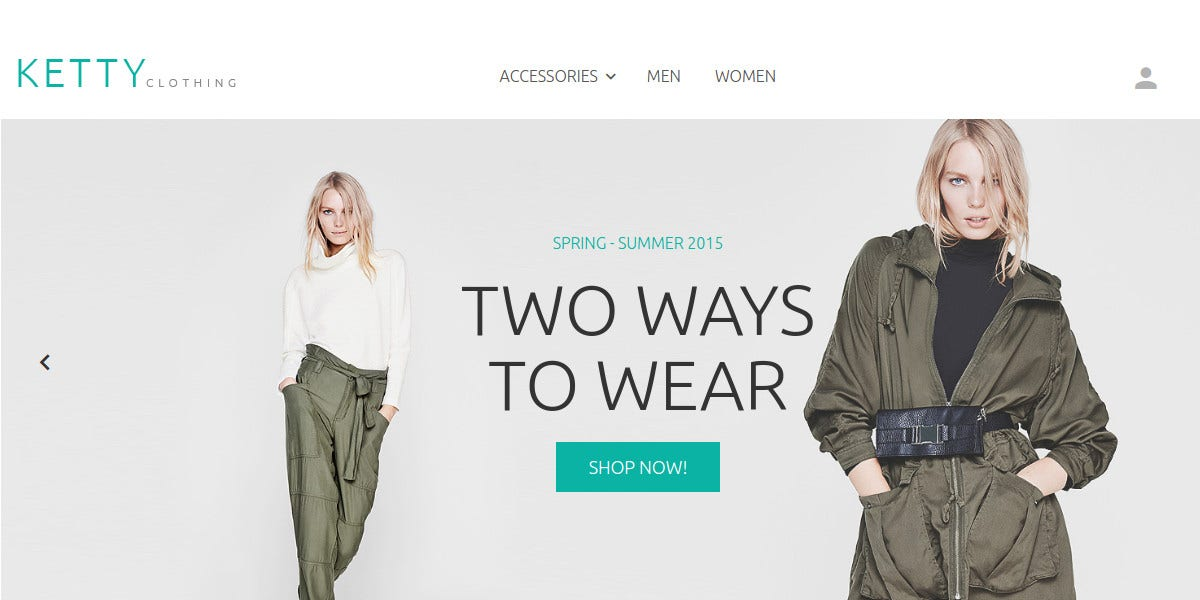 Stylish Clothes Free Magento Theme