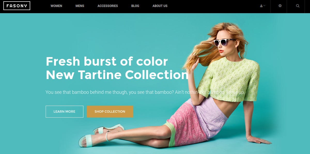 Free Fashion Clothes Magento Theme