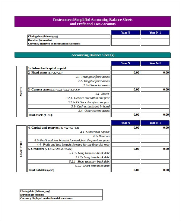 High Quality Profit And Loss Account Template Excel And Excel Profit Loss Template