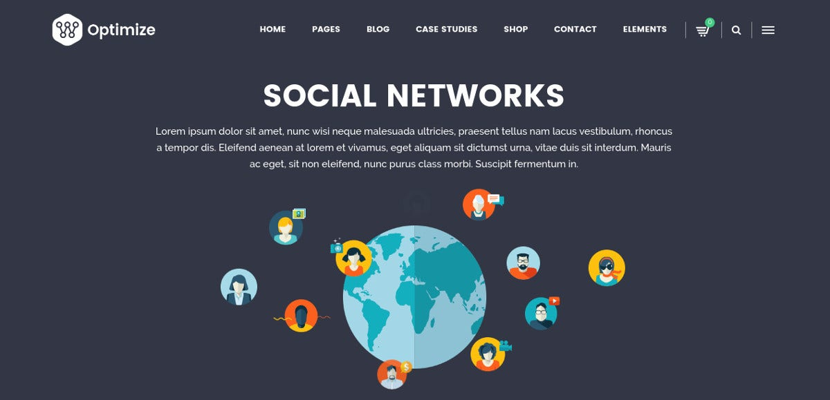 Social Media, Business & Corporate WP Website Theme $59