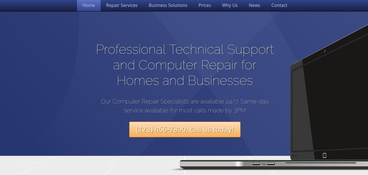 Computer Repair WordPress Website Theme