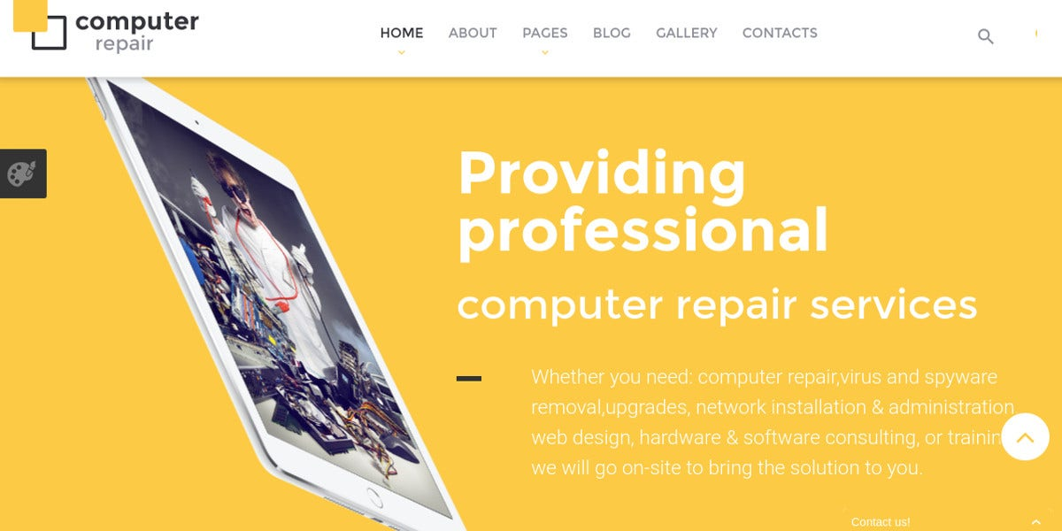 Computer Repair Joomla Website Template $75