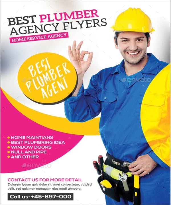 Franchise Service Plumber Flyer