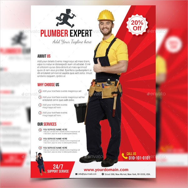 17+ Plumber Flyers - Free Psd, Ai, Vector, Eps Format Download