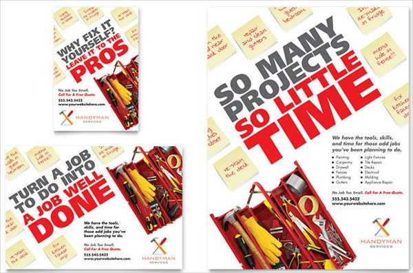 Handyman Services Flyer Design