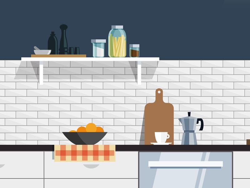 kitchen illustration interior design