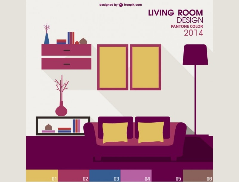 vector living room interior design