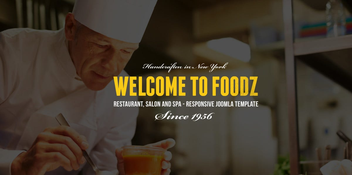 Restaurant & Food Joomla Virtuemart Template $53