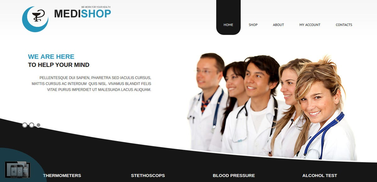 Medical VirtueMart Joomla Virtuemart Theme $39
