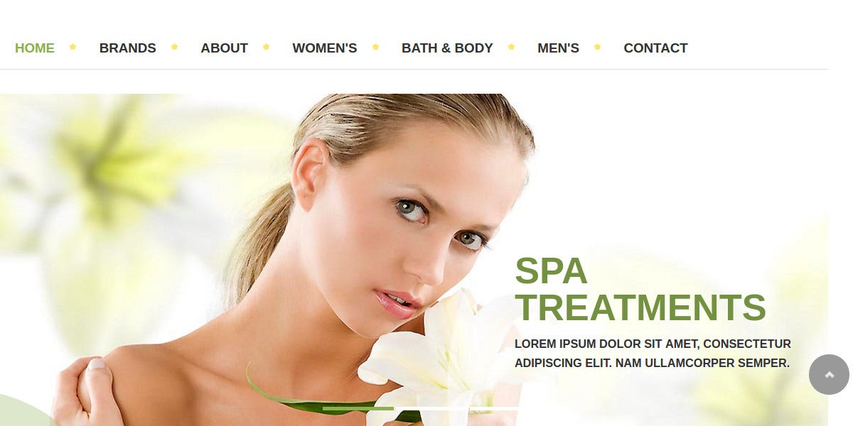 Spa & Salon VirtueMart Joomla Virtuemart Theme $39