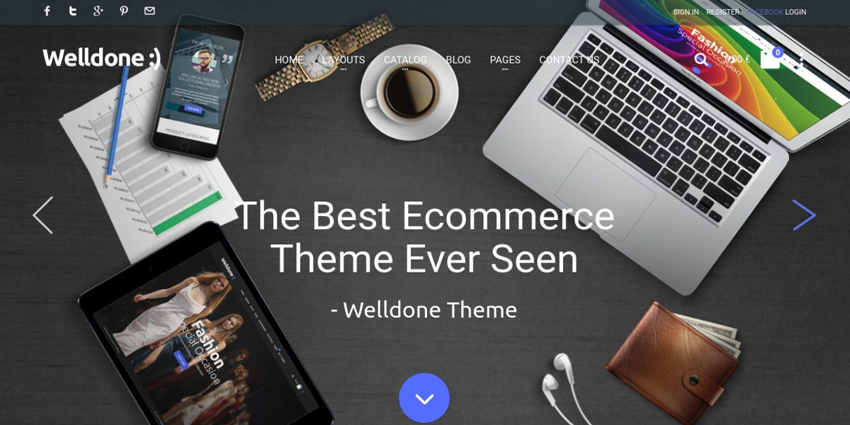 Fashion Joomla VirtueMart eCommerce Theme $58
