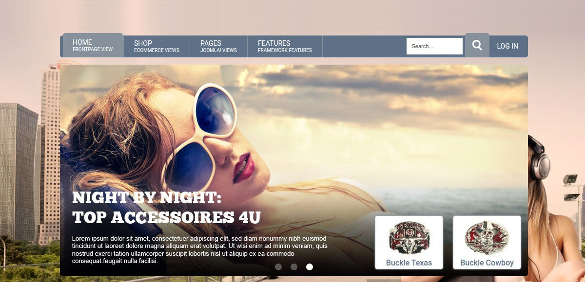 Modern eCommerce Joomla VirtueMart Template
