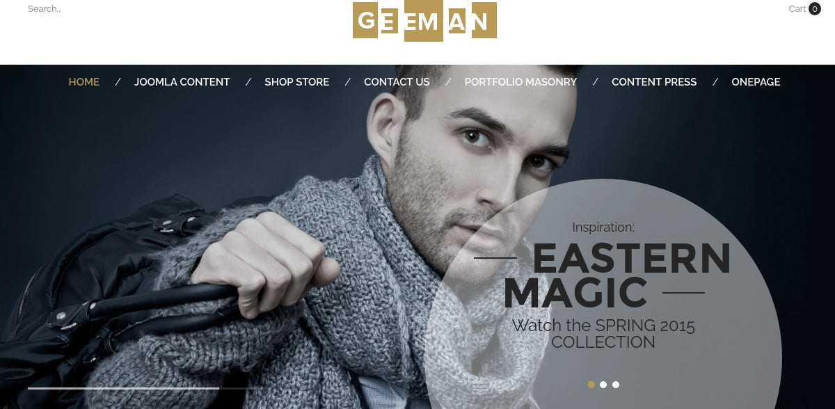eCommerce Joomla VirtueMart Template for Men's Clothing