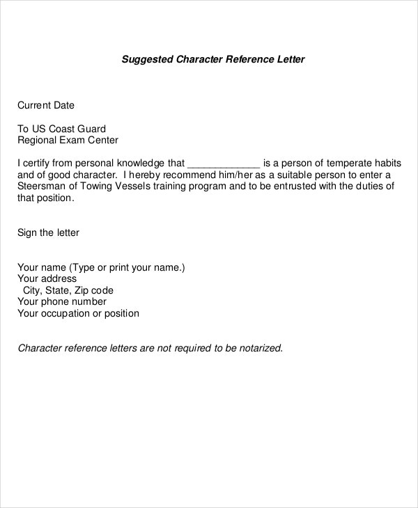 Reference Letter - 12+ Free Word, Pdf Documents Download | Free