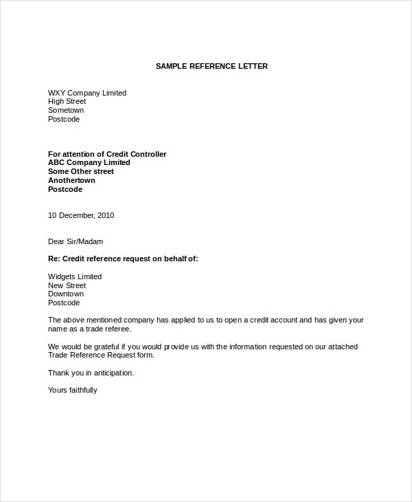 Reference Letter   Free Word Pdf Documents Download  Free