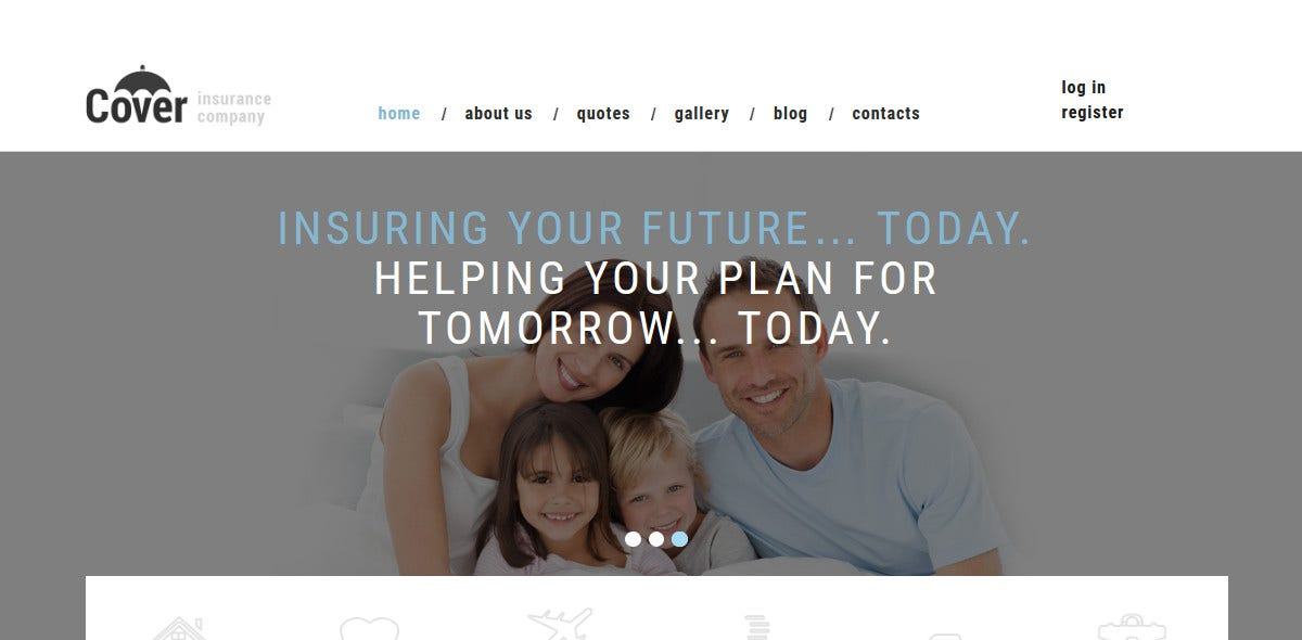 Insurance Company Joomla Website Template $75