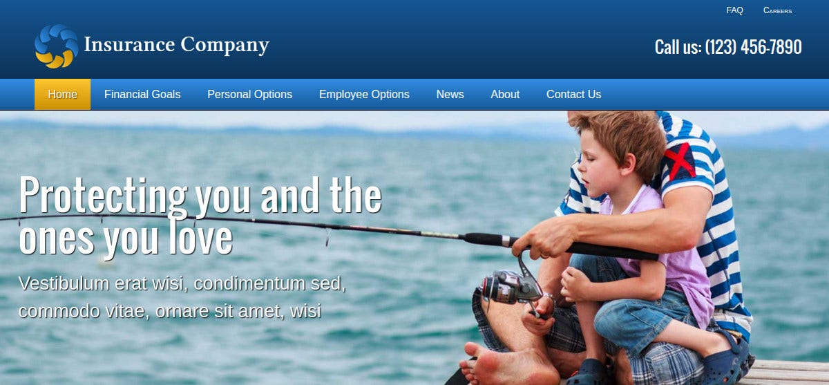 Insurance Company WordPress Website Theme