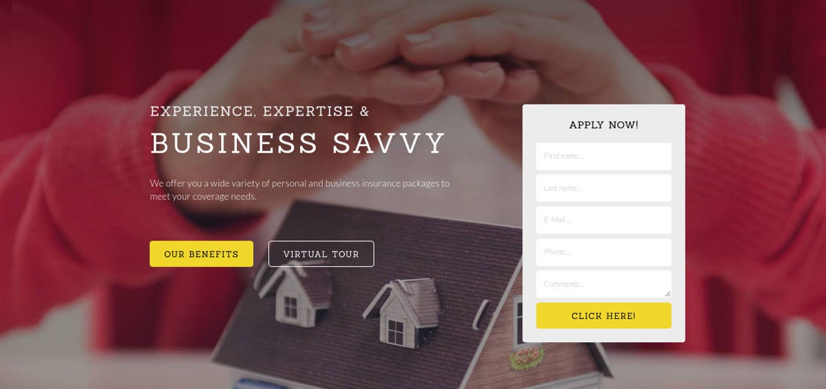 Insurance Responsive Bootstrap Website Template