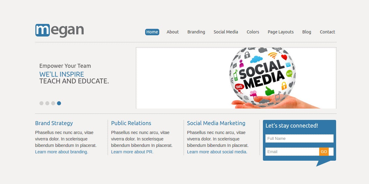 Social Media WordPress Theme for Consultants, Freelancers