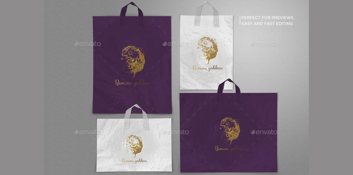 Photorealistic Plastic Bags Mockups