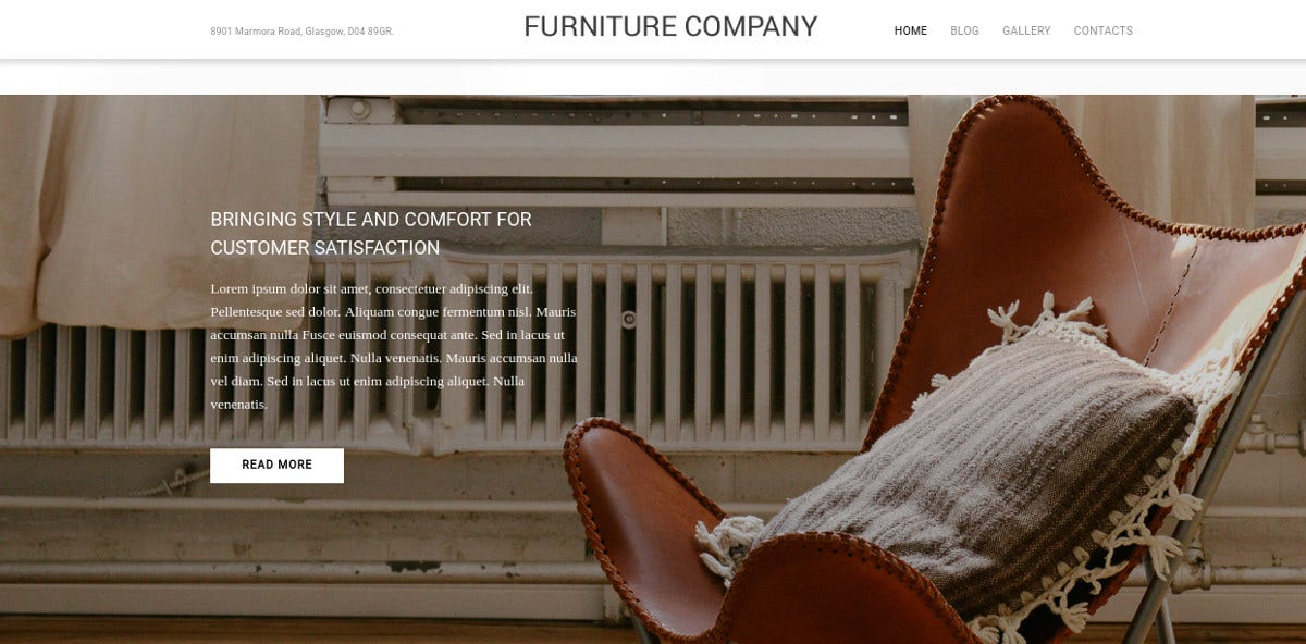 Interior Design Furniture Company WordPress Website Theme $79