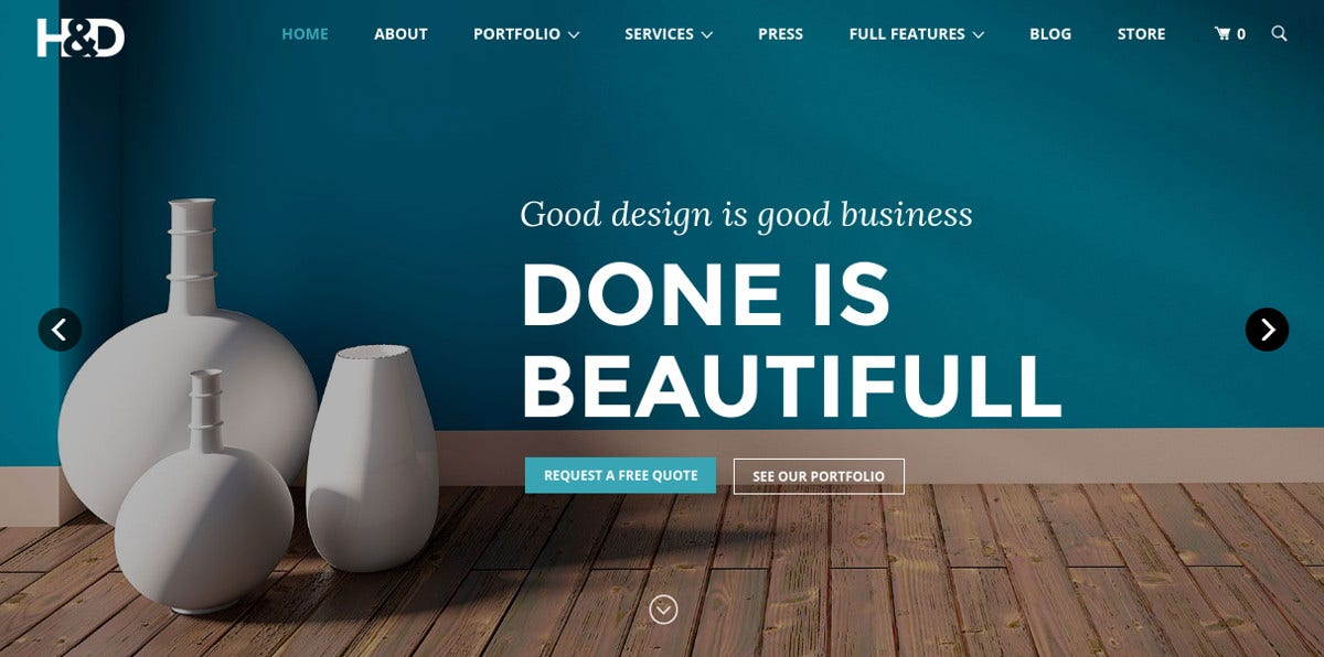 Modern Interior Design WordPress Website Theme $59