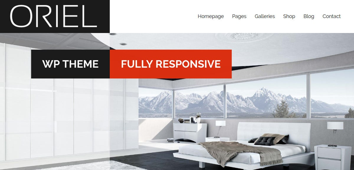 Interior Design & Arrchitecture WordPress Website Theme $44