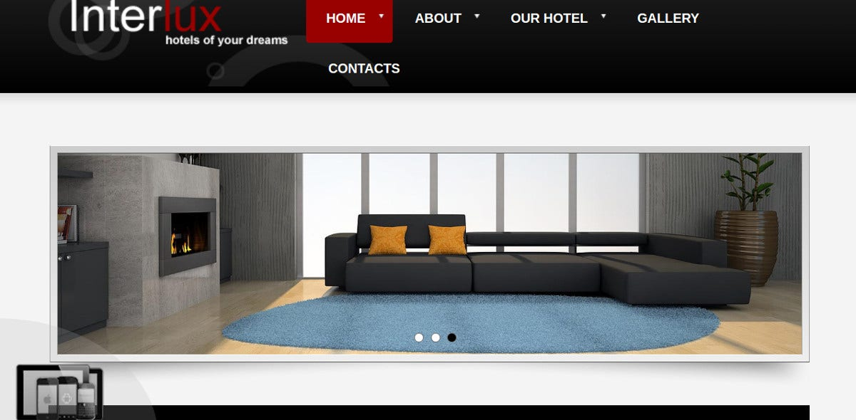 Responsive Interior Design Joomla Website Theme