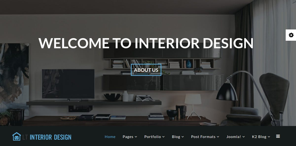 Interior Design Portfolio Joomla Website Template